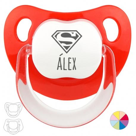 Chupete Personalizado Nombre + Superman