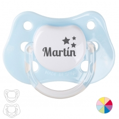Classic Pacifier Name + Stars