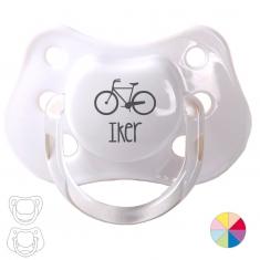 Chupete Personalizado Nombre + Bici