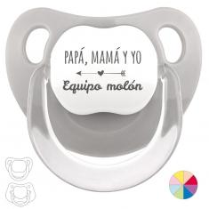 Chupete Baby o Clásico Papá, Mamá y Yo, Equipo Molón
