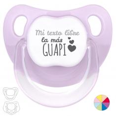 Chupete Baby o Clásico Mi (texto libre) la más guapi