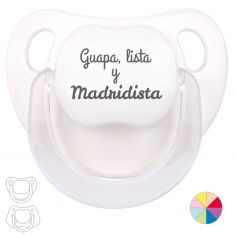 Chupete Divertido Guapa, lista y Madridista