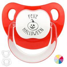 Chupete Baby o Clásico Feliz Halloween Calabaza
