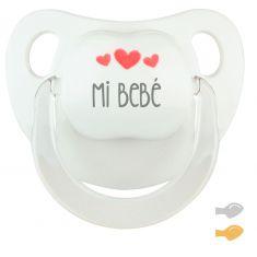 Chupete Baby Deco Blanco Mi Bebé