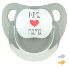 Baby Pacifier Super Dad is Cool Pink Pastel