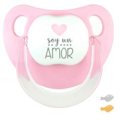 Chupete Baby Deco Rosa Pastel Soy un Amor