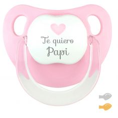 Chupete Baby Deco Rosa Pastel Te quiero Papi
