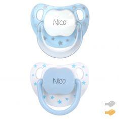 Pack Twin Baby Chic Azul Personalizado