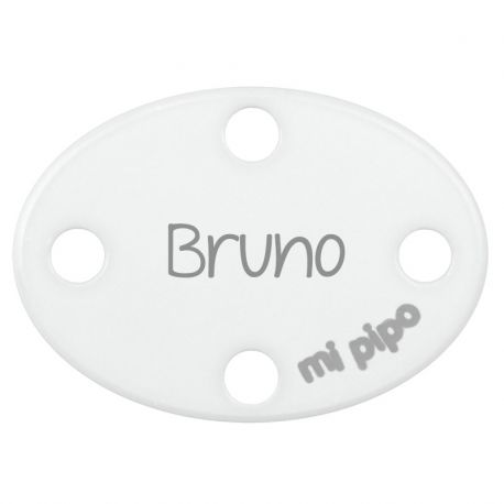 Clip-Clamp Oval Personalized White +0M