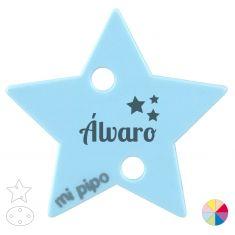 Broche Pinza Nombre + estrellas