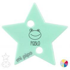 Broche Pinza Personalizado Nombre + Ranita