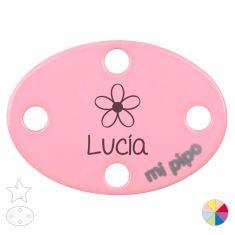 Broche Pinza Personalizado Nombre + Flor