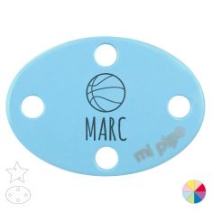 Broche Pinza Personalizado Nombre + Baloncesto