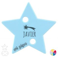 Broche Pinza Personalizado Nombre + estrella Navidad