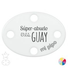 Broche Pinza Super Abuelo eres Guay