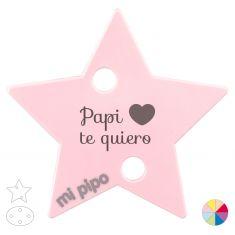 Broche Pinza Papi te quiero