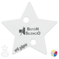 Broche Pinza Botón silencio