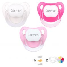 Pack de 3 chupetes Baby personalizados