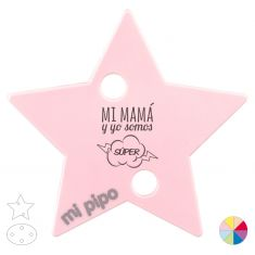 Broche Pinza Mi Mamá y yo somos Súper