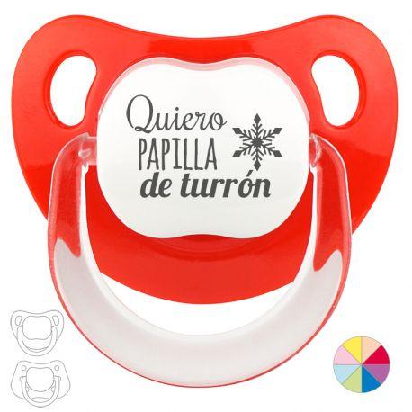 Classic Pacifier Christmas, I want turrón porridge Red