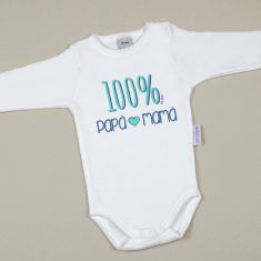 Babidu Body Divertido 100% Papá-Mamá