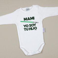 Babidu Body Divertido Mami Yo soy tu Hijo Verde
