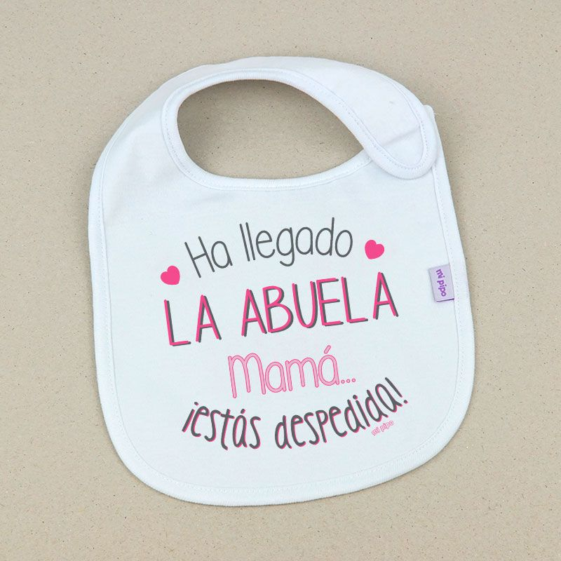 Personalizada Feliz Cumpleaños Papá Mamá Abuela Abuelo Velcro Babero Azul Rosa