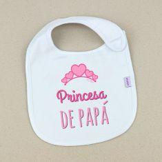 Babero Divertido Princesa de Papá +3m