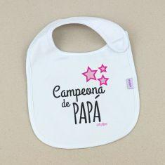 Babero Divertido Campeona de Papá +3m