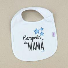 Babero Divertido Campeón de Mamá +3m