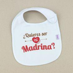 Babero Divertido ¿Quieres ser mi Madrina? +3m