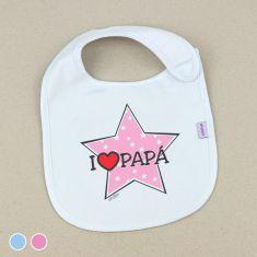Babero Divertido I love Papá estrella
