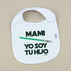 Babero Divertido Mami Yo soy tu Hijo verde
