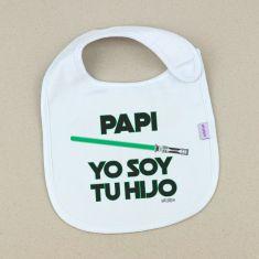 Babero Divertido Papi Yo soy tu Hijo verde
