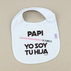 Babero Divertido Papi Yo soy tu Hija Rosa