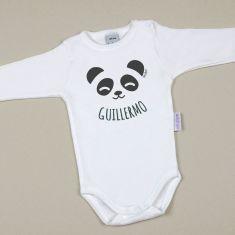 Babidu Body Personalizado Nombre + Oso Panda