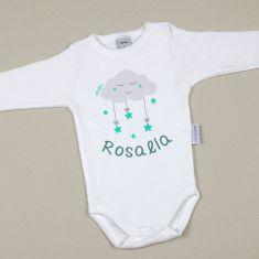 Babidu Body Personalizado Nombre + Nube Menta
