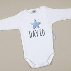 Babidu Body Personalizado Nombre + Estrella Azul