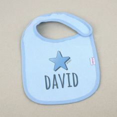 Babero Personalizado Estrella Azul