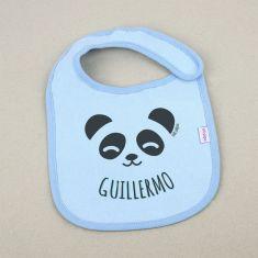 Babero Personalizado Nombre + Oso Panda +3m