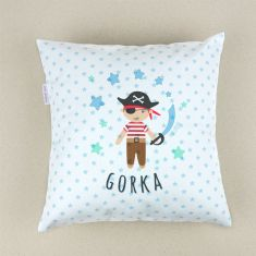 Personalized square Pirate cushion
