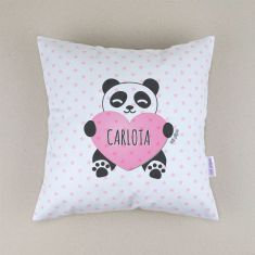 Personalized square Panda cushion