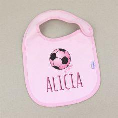 Babero Personalizado Balón Rosa