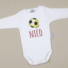 Babidu Body Personalizado Nombre + Balón Futbol España