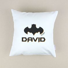 Cojín cuadrado piqué Batman personalizado