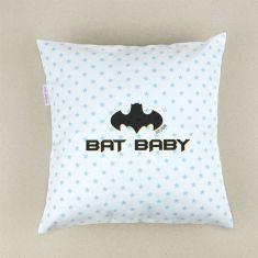Cojín cuadrado piqué Bat Baby