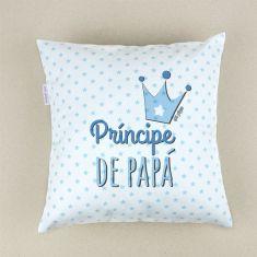 Cojín cuadrado piqué Príncipe de Papá