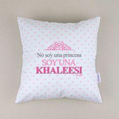 Cojín cuadrado piqué No soy una Princesa, soy una Khaleesi
