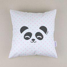 Cojín cuadrado piqué Panda