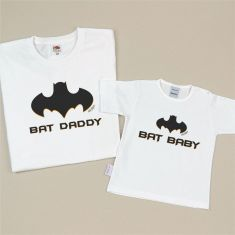 Pack 2 Camisetas Divertidas Bat Baby/ Bat Daddy